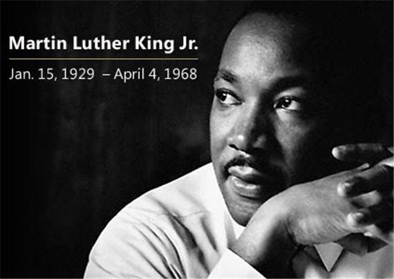 Martin Luther King jan 15 1929 April 4 1968