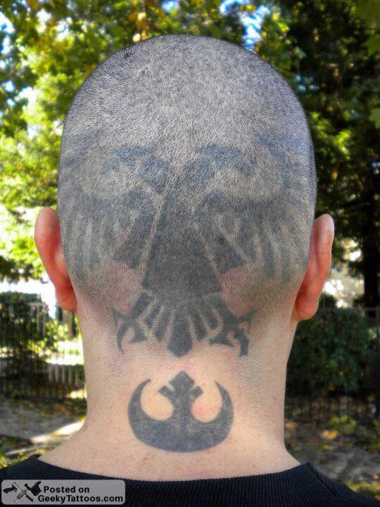 Marvel War hammer Head Tattoo Design For Boys