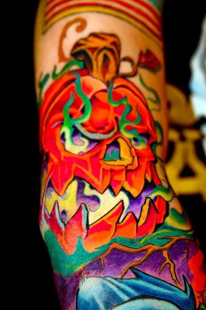 Marvelous Halloween Tattoo Design For Boys