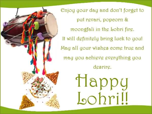 May You Achieve Everything You Desire Happy Lohri Wishes Message Image