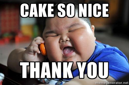 Meme Cake So Nice Thank You Graphic