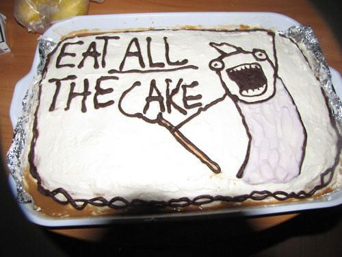 Meme Eat All The Cake Graphic