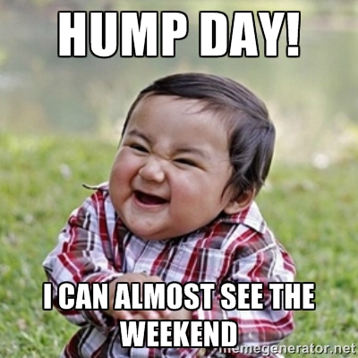 meme hump day i can almost see the weekend photo picsmine