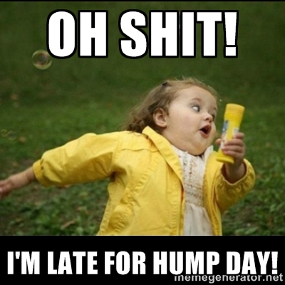 Meme Oh Shit I Am Late For Hump Day Photo