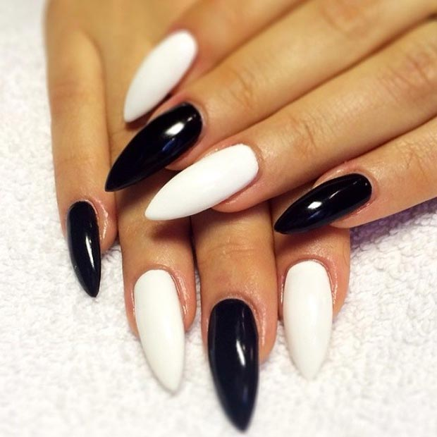Most Eye Catching Black And White Nails