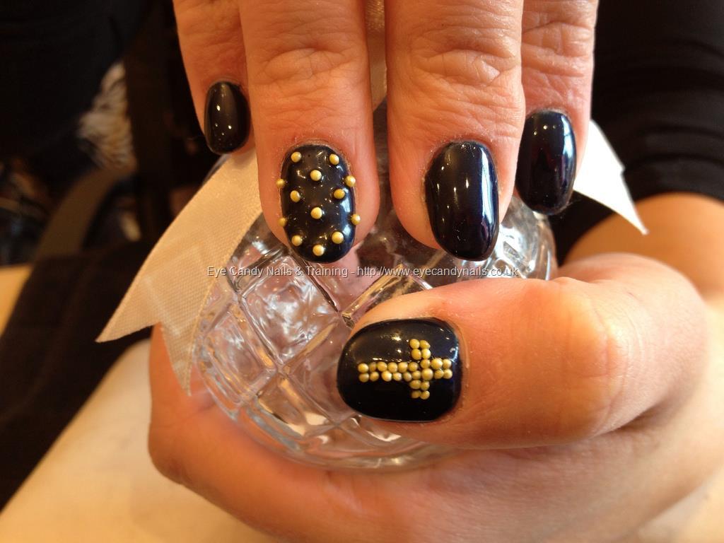 Most Fabulous With Cross Gold Black Acrylic Nail Art