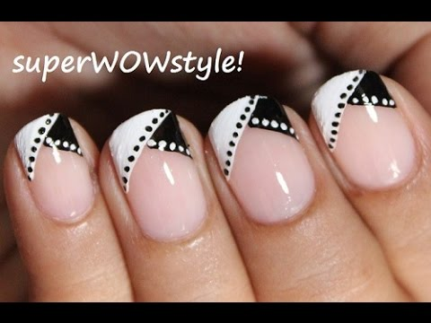 Most Special Black French Tip Nails With Wow Style