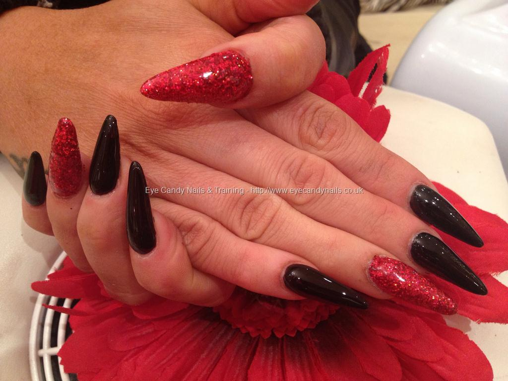 Most Tremendous Red And Black Nails With Nail Design