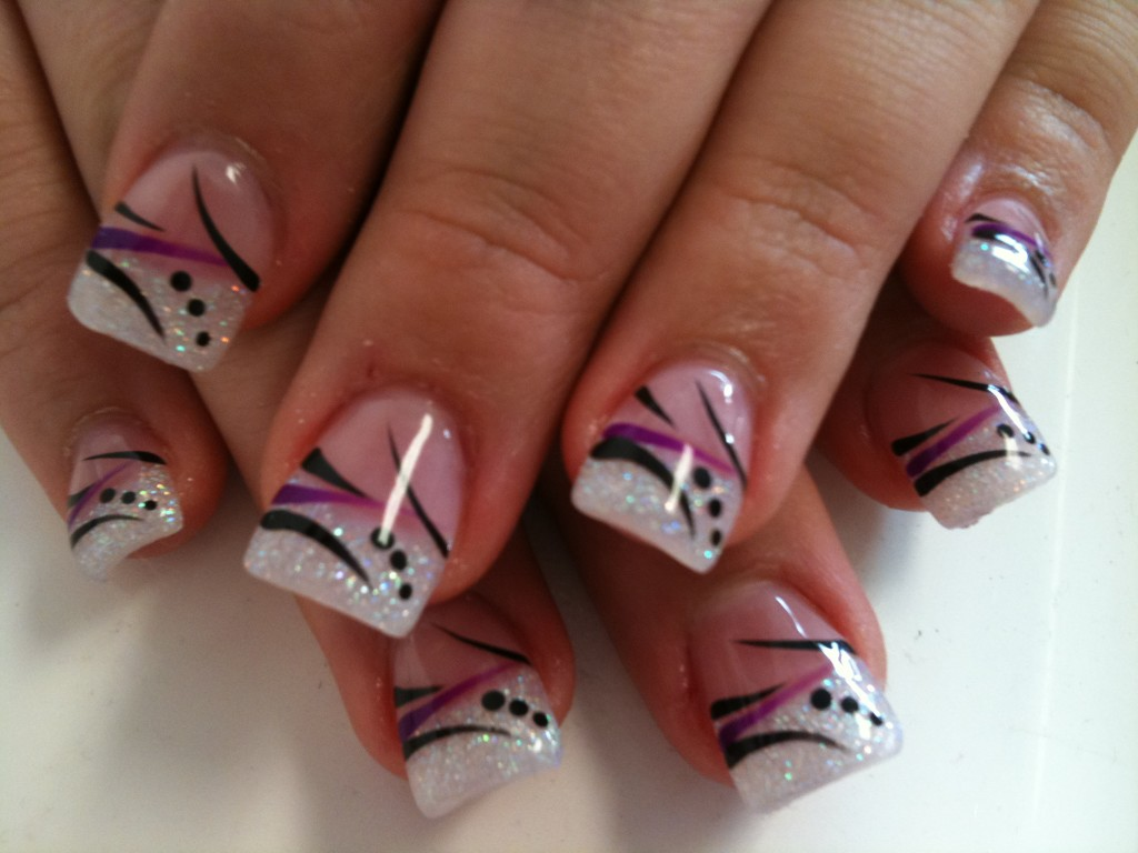1024 768 in 62 phenomenal black and white nails art designstyle ideas - Nail Tip Designs Ideas