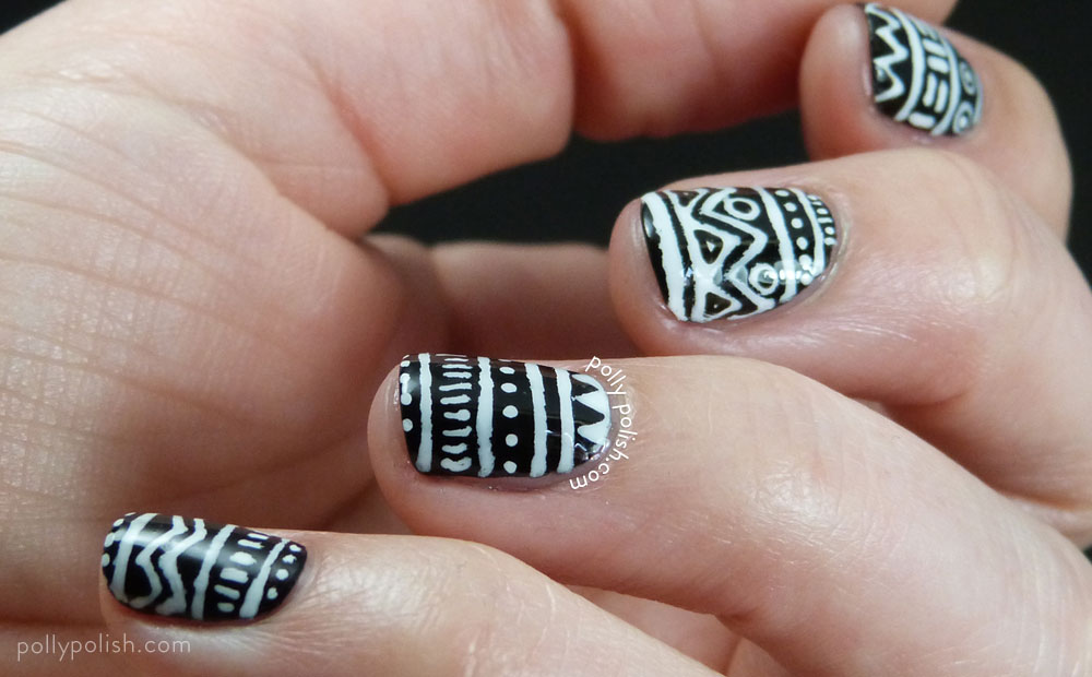 Most tremendous White And Black Nail Art With Fabulous Design