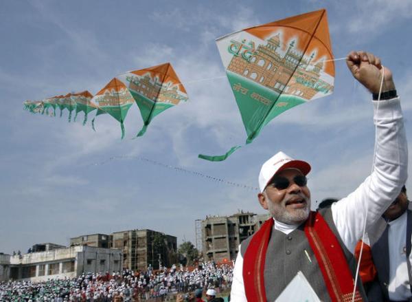 Narendra Modi Celebrating Bansant Panchami Greetings Images