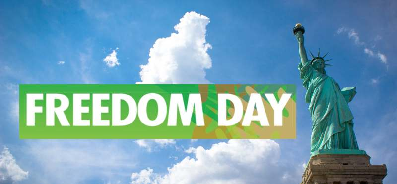 National Freedom Day Best Wishes Statue Of Liberty Wallpaper