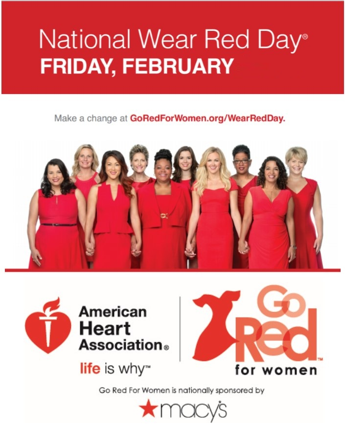 National Wear Red Day Friday