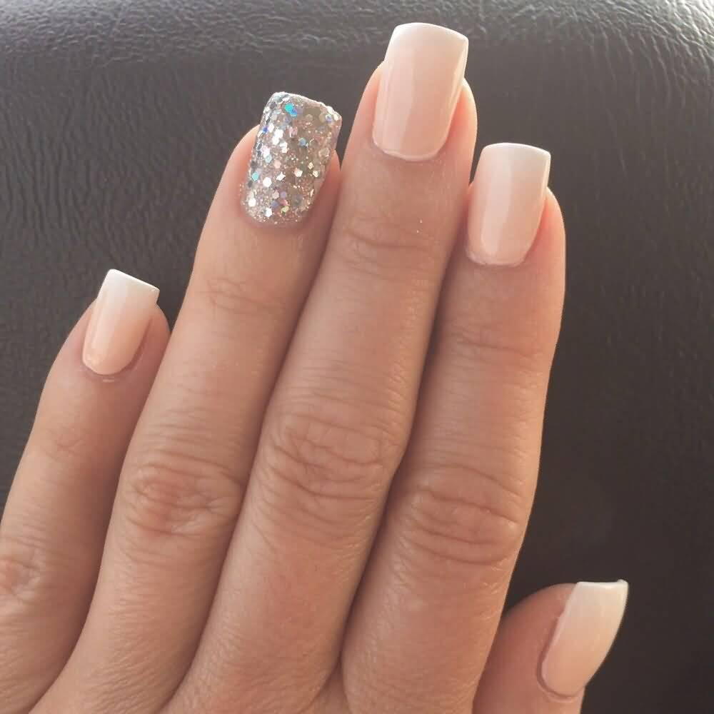 Natural Color Sparkle Glitter Accent Nail Art