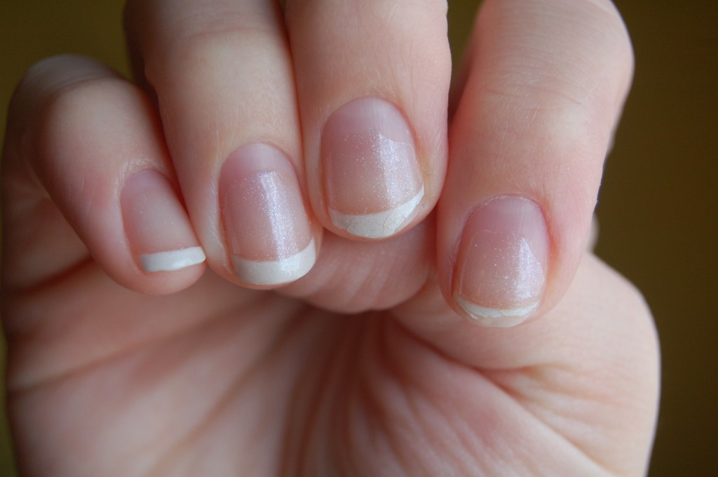 Natural nail Acrylic Short Nail Design