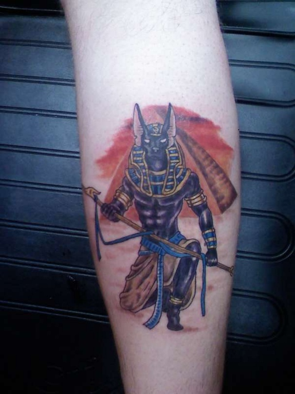 back legg tattoo