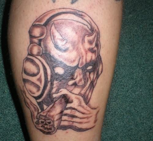 out standing gothic skull smoking tattoo design for boys picsmine. Black Bedroom Furniture Sets. Home Design Ideas