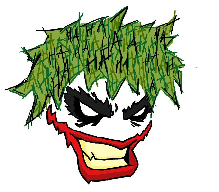 Out Standing Joker Head Tattoo For Boys