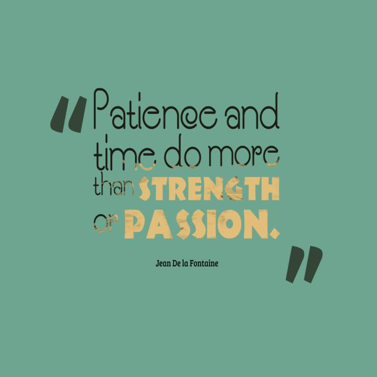 Passion Sayings Patience And Time Do More Than Strength Or Passion Jean De La Fontaine