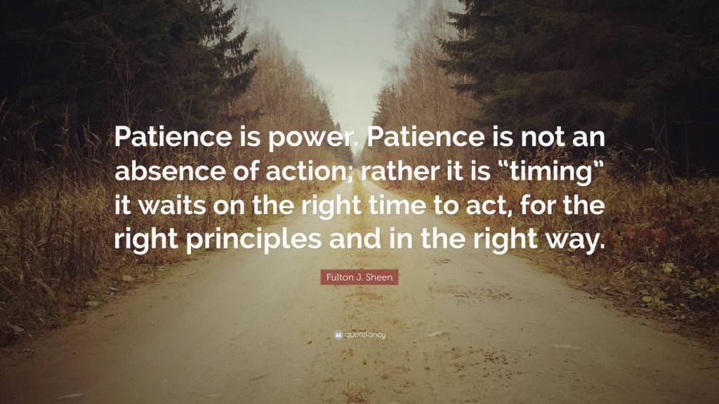 Patience Quotes patience is power patience is not an absence of action rather it is