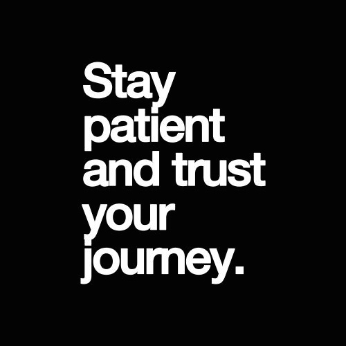Patience Quotes stay patient and trust your journey