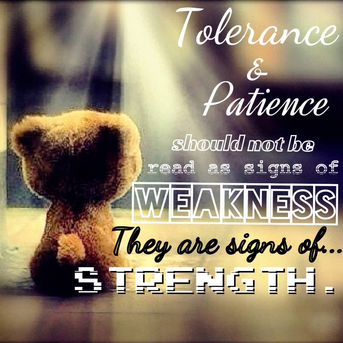 Patience Quotes tolerance patience should not be read as signs of weakness they are sihns