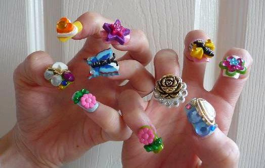 Phenomenal Design Of 3D Nail Art
