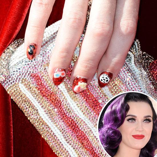 Phenomenal Katy Perry's 3D Nail Art