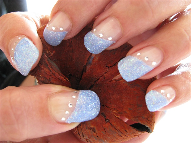 Phenomenal Light Blue Nails On Tips