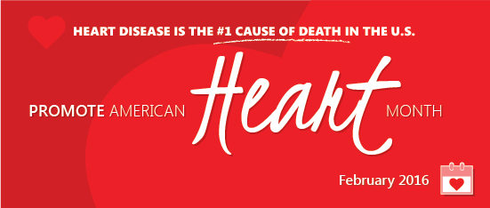 Promote American Heart Month National Wear Red Day