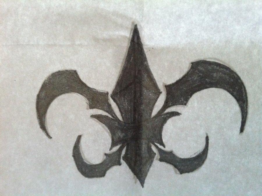 Realistic Again Tribal Fleur De Lis Tattoo Design For Boys And Girls