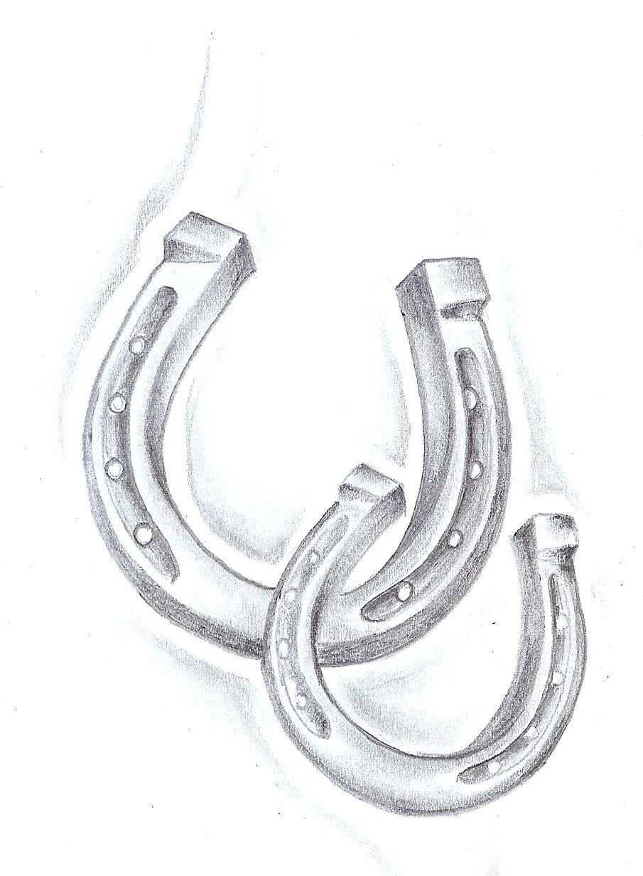 Realistic Simple Horseshoe Tattoo Design For Women