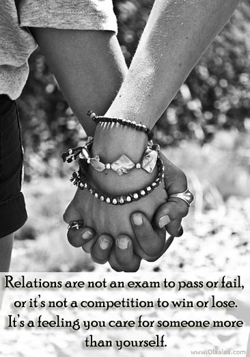 Relationship Quotes relations are not an exam to pass or fail or it's not a competition to win or lose