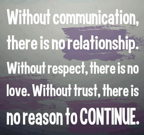 Relationship Quotes without Communication there is no relationship