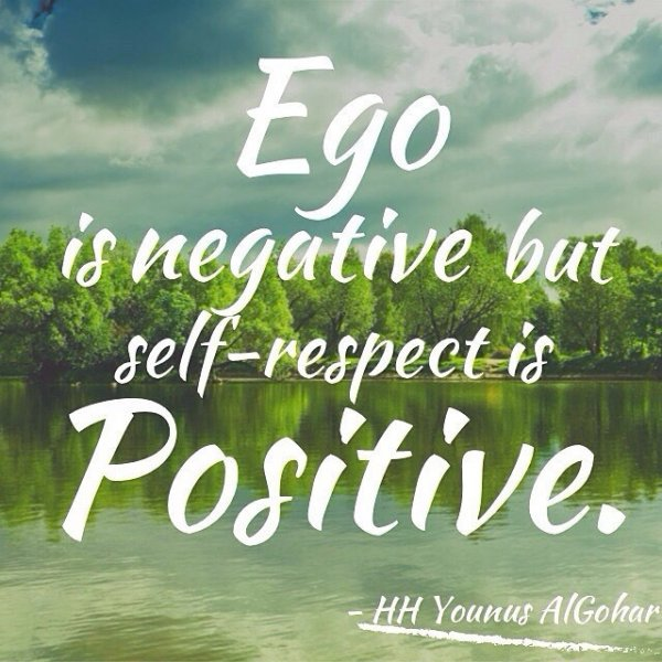 Respect Quotes ego is negative but self respect is positive