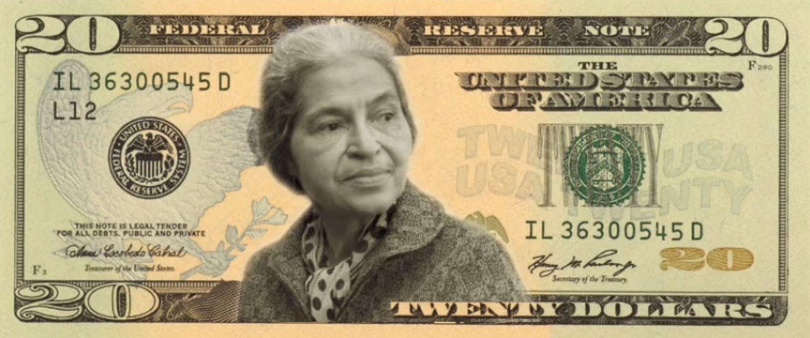 Rosa Parks Twenty Dollars Picture