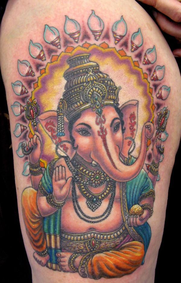 Sensation Ganesh Tattoo Show The Hindu God Large Belly For boys
