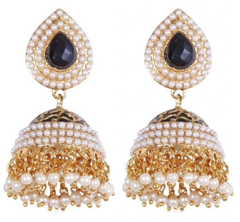 Shining Diva Stylish Traditional Jhumki Earrings For Women & Girls 002