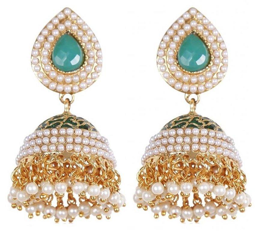 Shining Diva Stylish Traditional Jhumki Earrings For Women & Girls 003