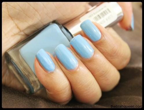 Simple Light Blue Nails Simple Design