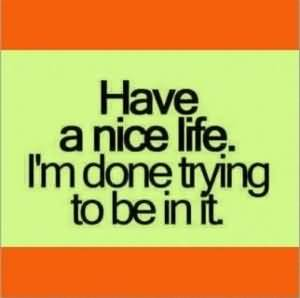 So Done Quotes Have a nice life I'm done trying to be in it