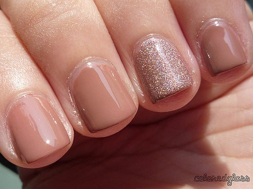 Sparkling Nail Paint Accent Nail Art