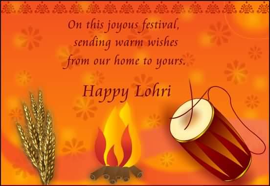 Special Happy Lohri Greetings Image