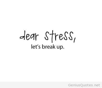 Stress Quotes dear stress, let's break up.