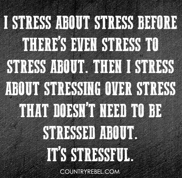 Stress Quotes i stress about stress before there's even stress to stress about....
