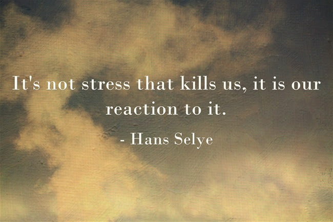 Stress Quotes it's not stress that kills us, it is our reaction to it...
