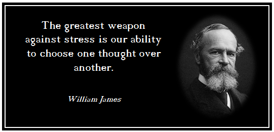 Stress Quotes the greatest weapon against stresses our ability to choose one thought over another.