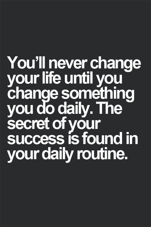 Stress Quotes you'lll never change your life until you change something you do daily..