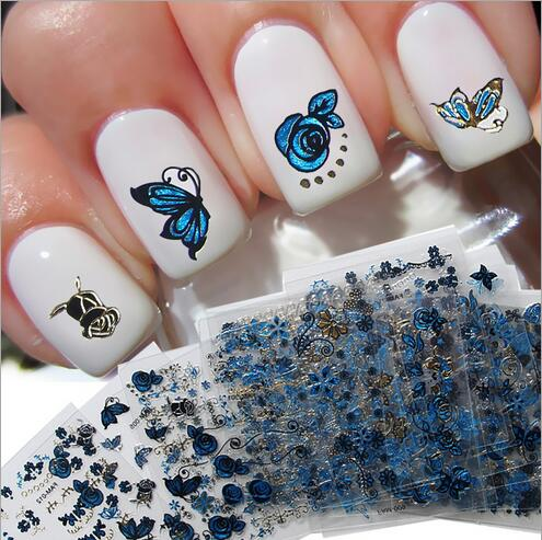 Stunning Butterfly Nail With Rose & Butterfly Nail Art