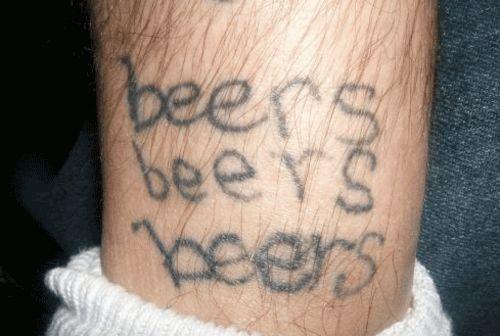 Stunning Homemade Lettering Tattoo Design For Boys